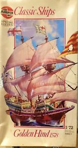a airfix golden hind 1578 model kit 172 series 9 special edition 09258