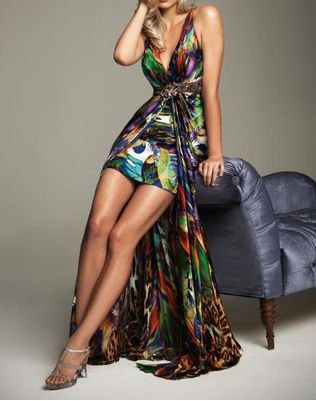 Sexy Multi-Coloured Cocktail Dress, Formal Evening Gown, Bridesmaid Dress!!
