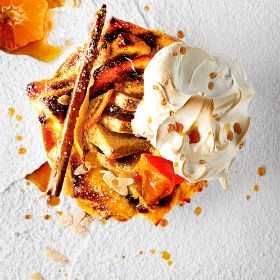 Citrusy bread & butter pudding