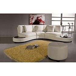 Pyrite White Leather Sectional | Overstock.com Shopping - Big Discounts on EuroDesign Sectional Sofas