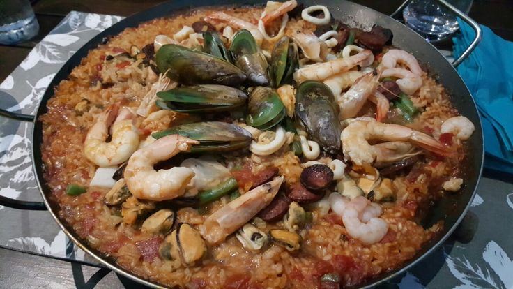 Seafood Paella  Recipe  Campingwithacocktail.com