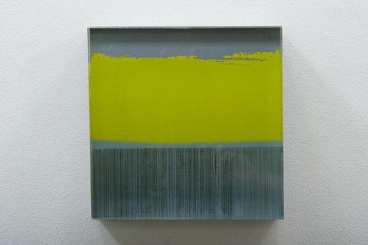Anna Morris, oil and acrylic on mdf, 20 x 20 x 5cm