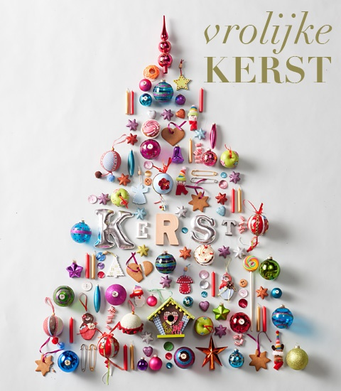 colorful tree what a fun idea to do with the kids on the wall of their room with their toys intermingled with ornaments...