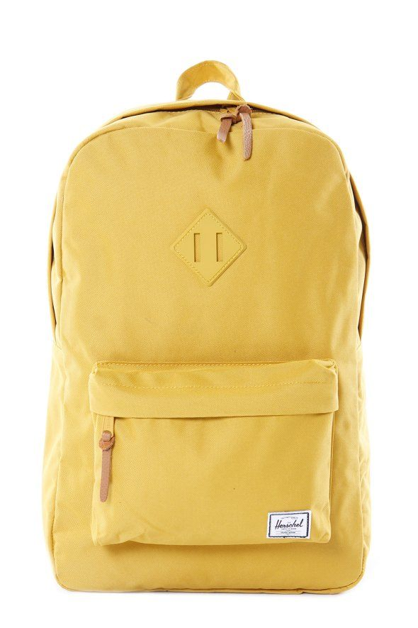 yellow Herschel heritage backpack