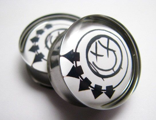 Blink 182 Plugs 2g 0g 00g 7/16 1/2 9/16 5/8 3/4 7/8 by SuperPlugs, $19.95