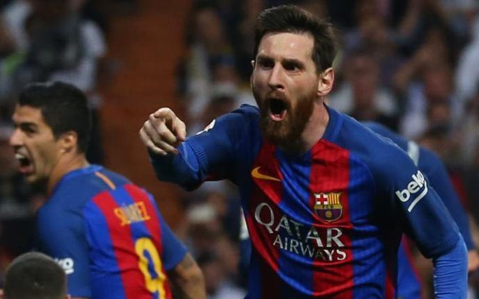 Lionel Messi - Real Madrid 2 Barcelona 3: Lionel Messi silences Santiago Bernabeu with injury-time winner in El Clasico  23.4. 2017