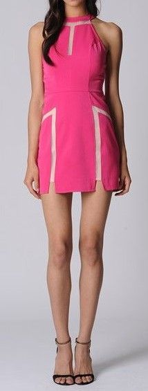 Hot Pink Cut-away Mini  $25  size 10