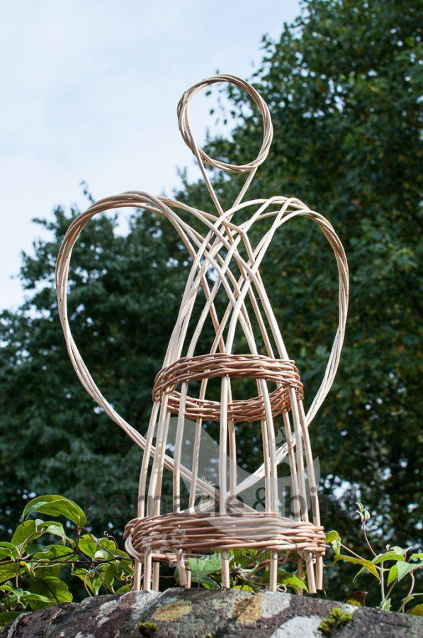 Basket Weaving With Willow Branches : Christmas willow angel sculpture from wayswithwillow