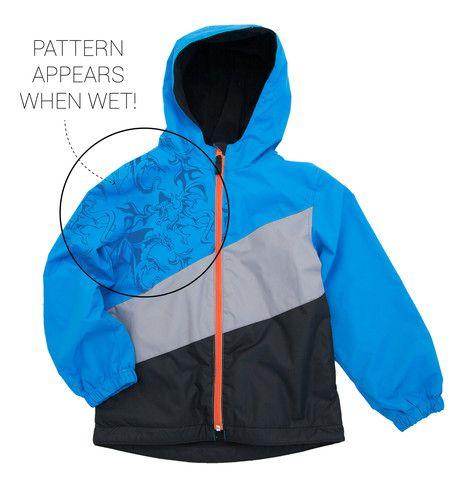 Buy Waterproof Kids' Magic Print Wet-weather Jacket - Boys Brilliant Blue