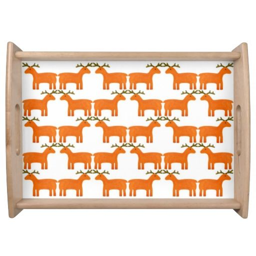 Reindeer  Serving Tray for u at www.zazzle.com/superdumb #zazzle #superdumb #reindeer #christmas #xmas #serving #tray