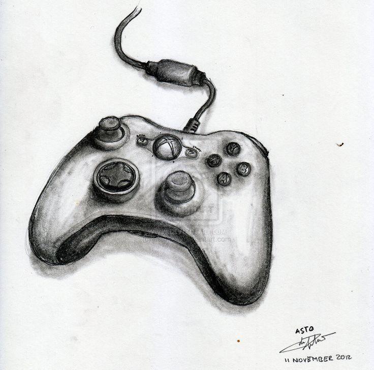 Xbox Controller Drawing Google Searc Xbox Controller Drawing Google Search Claroscuro Dibujo Astronautas Dibujos Bocetos A Lapiz