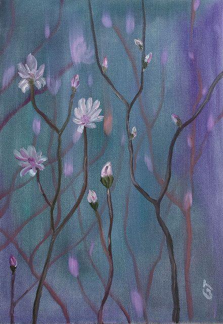Uyanış, 35x50, oil&canvas, #gurseltokmakoglu #artist #artworks #sanat #art #paint #tablo #yağlıboya #oiloncanvas #paintings  #finearts #original #oilpaintings #paintworks #çiçek #flowers #awekening #soft