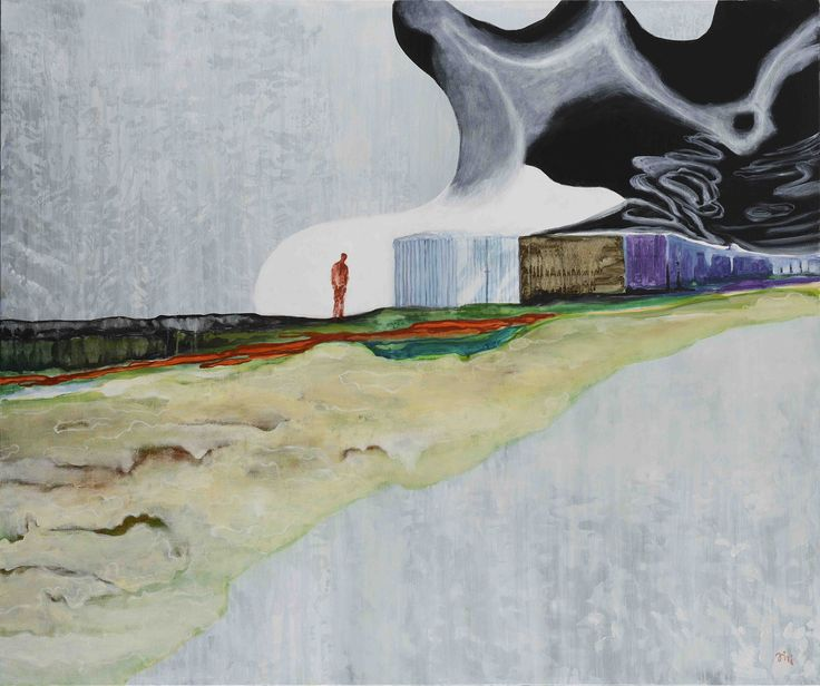 Jiří Hauschka: At that Time, 2014, acrylic on canvas, 100 x 120 cm