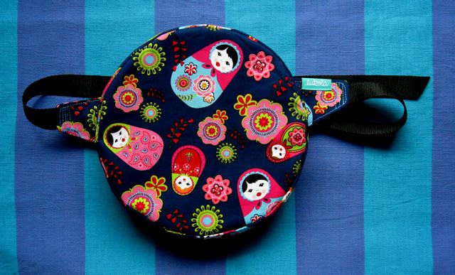 lukola handmade // Okrągła na biodro MATRIOSZKI // MATRIOSHKA round waist bag