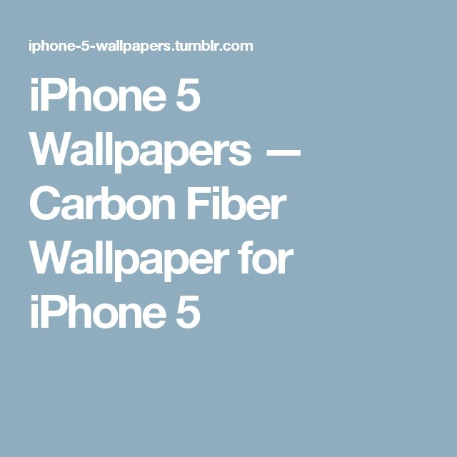 iPhone 5 Wallpapers — Carbon Fiber Wallpaper for iPhone 5