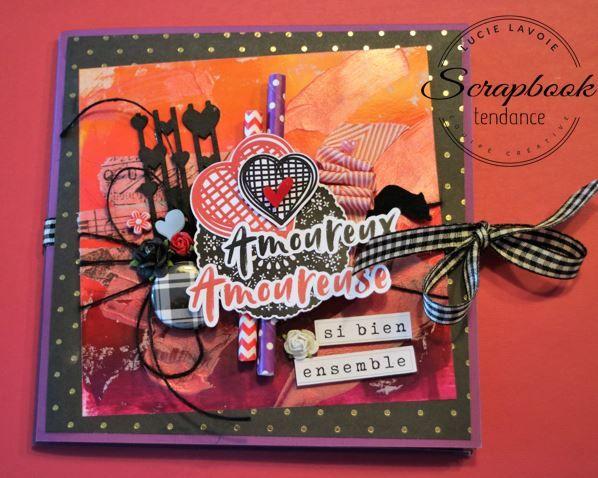Scrapbook Tendance: Carte Saint-Valentin - Encres Distress Oxide sur papier glacé