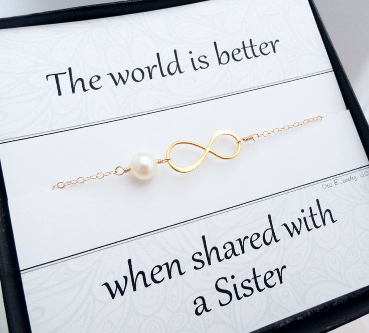 Gold infinity bracelet Sister gifts Friendship by BriguysGirls, cute idea for your new sister-in-laws $31.50