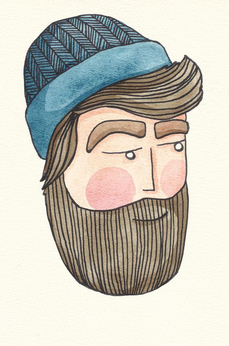Beard Illustration   w...