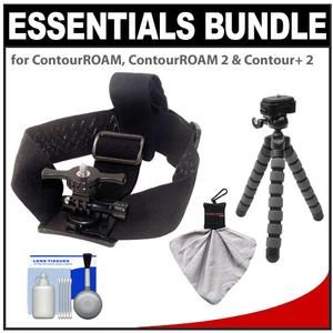 Another great product: Essentials Bundle for ContourROAM  ContourROAM 2 & Contour+ 2 Action Camcorders with Helmet Mount + Flex Tripod + Accessory Kit The Intova MT-2N Helmet Strap Mount keeps your digital camera mounted to your head or helmet. The MT-2N features fully-adjustable  elastic neoprene 4cm wide straps  and a universal mount base that allows attachment of cameras with a standard 1/4-20 tripod mount base. The quick release twist lock allows you to attach and remove