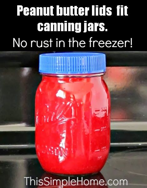 Canning Jar Lid Alternative for the freezer #tips #simple #canning