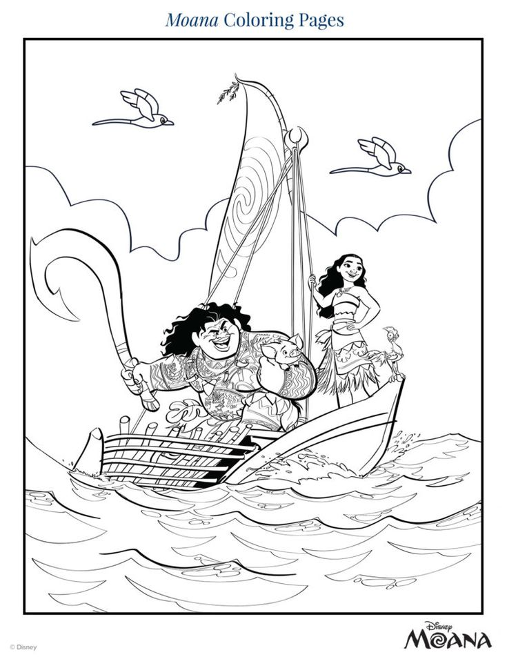 30+ Moana coloring pages to print inspirations