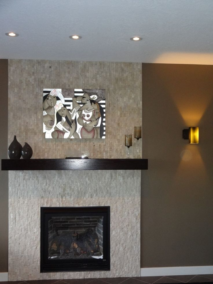 Floor To Ceiling Tile Split Fireplace Home Modern