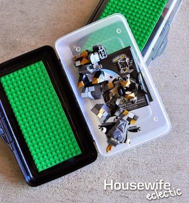 DIY Road trip lego box - summer toy idea for kids // Utazó legó doboz - kreatív játék ötlet hosszú autóutakra // Mindy - craft tutorial collection