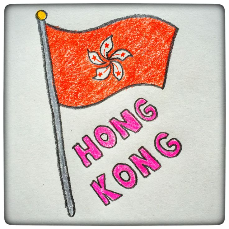 "There are many resemblances between the HK and China flags and the most common feature is the red color, present on both flags -symbolizes the celebration, a festive color for Chinese people. In the end, we all know the ""one country two systems"" principle :) Unlike the Chinese flag that has the 5 yellow stars, the HK flag has a white 5 petals orchid in the center. Each petal has a star in the center (the ones from the Chinese flag), to emphasize the connection between the 2 of them."