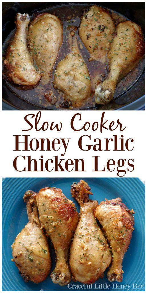 Slow Cooker Honey Garlic Chicken Legs