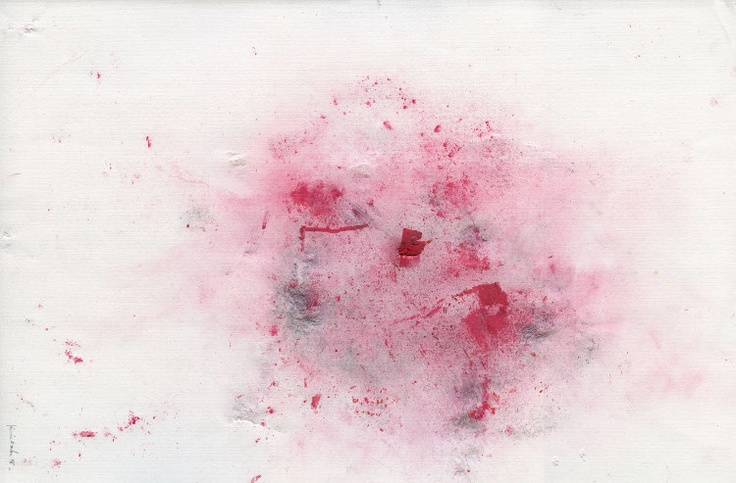 Jimmie Durham  Where a Heavy Stone Fell on Red and Black Pastel, 1998  tecnica mista su carta | mixed media on paper  30 x 40 cm  Courtesy the artist