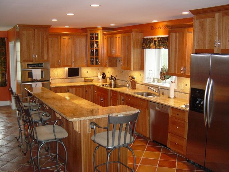 mission style kitchen cabinets | mission style kitchen done in