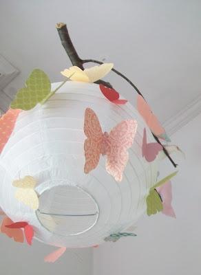 lampara de papel con mariposas De las manos de Jann - manualidades, tarjetas, recuerdos para toda ocasión