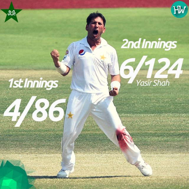 A fantastic bowling performance by Yasir Shah earned him the Man of the Match! #PAKvWI
