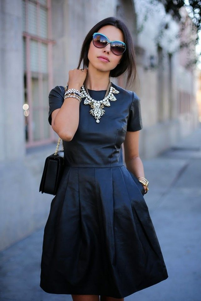 Add a statement necklace to your date night look.
