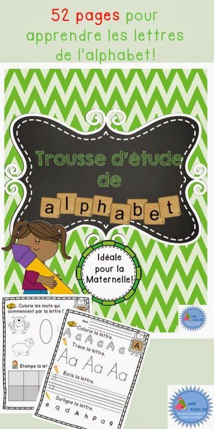 $ Mme Emilie - French alphabet activity book/ Cahier d'apprentissage de l'alphabet