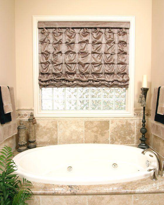 roman shade over master bath tub easy to operate motorized yelp rh pinterest com