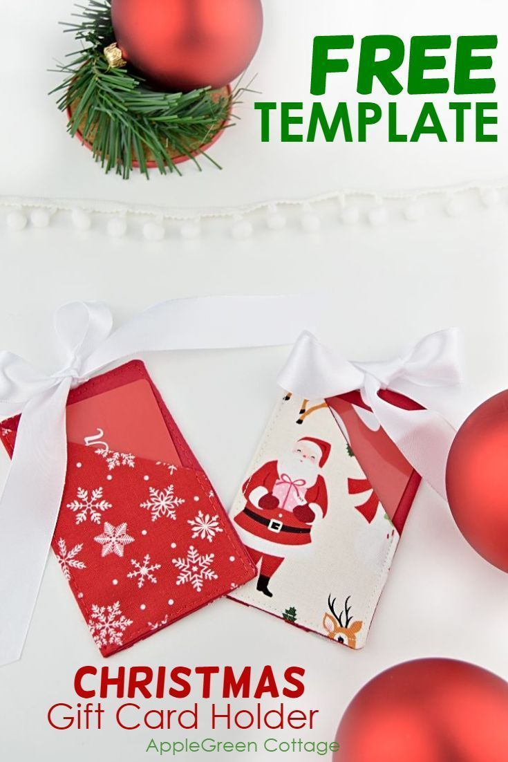 Christmas Gift Card Holder Free Template Applegreen Cottage Gift Card Holder Christmas Gift Card Holders Diy Gift Card Holder Christmas