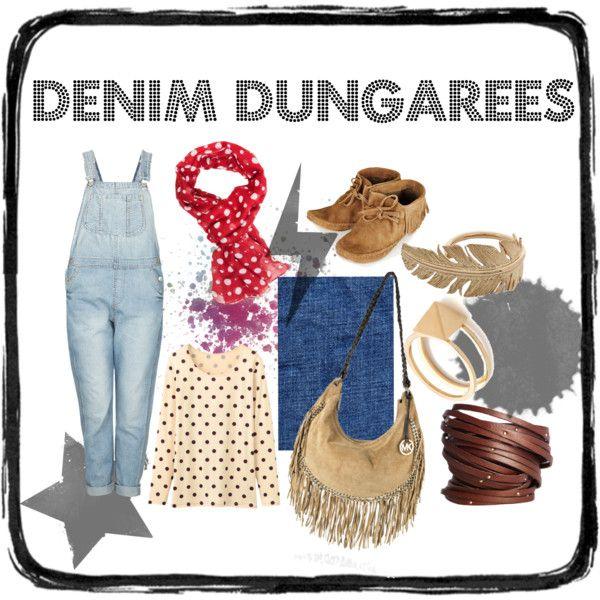 """""""Denim Dungarees"""" by ekamulya on Polyvore"""