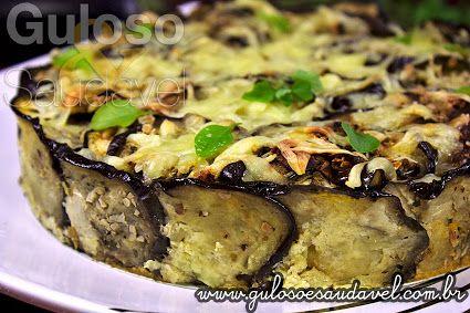 BomDia! Quer uma sugestão de #almoço delicioso, simples, rápido e hiper saudável? Esta Torta de Berinjela com Carne, leva fatias de berinjela e é #SemGlúten!  #Receita aqui: http://www.gulosoesaudavel.com.br/2013/05/28/torta-berinjela-carne/