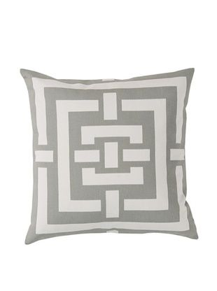 65% OFF Surya Geometric Throw Pillow, Ash Gray/Ivory