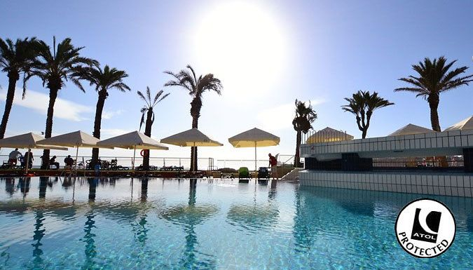 UK Holidays: St. Pauls Bay, Malta: 7 Night 4* All-Inclusive Stay With Flights - Up to 33% Off for just: £219.00 Explore caves, coastlines and stunning sunsets with a 7-night stay in Malta.      Stay in luxury at the 4* Canifor Hotel, Qawra Palace Hotel Malta or Hotel Santana      Enjoy all-inclusive board where all meals and drinks are included in the price      Dip in the hotels' sparkling...