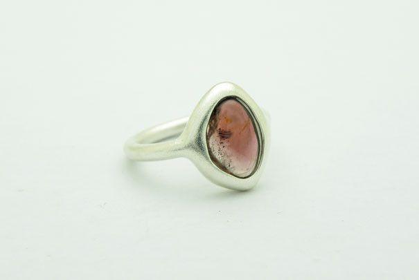 Rosa Turmalin Silber 925 Ring von Orfeu auf DaWanda.com