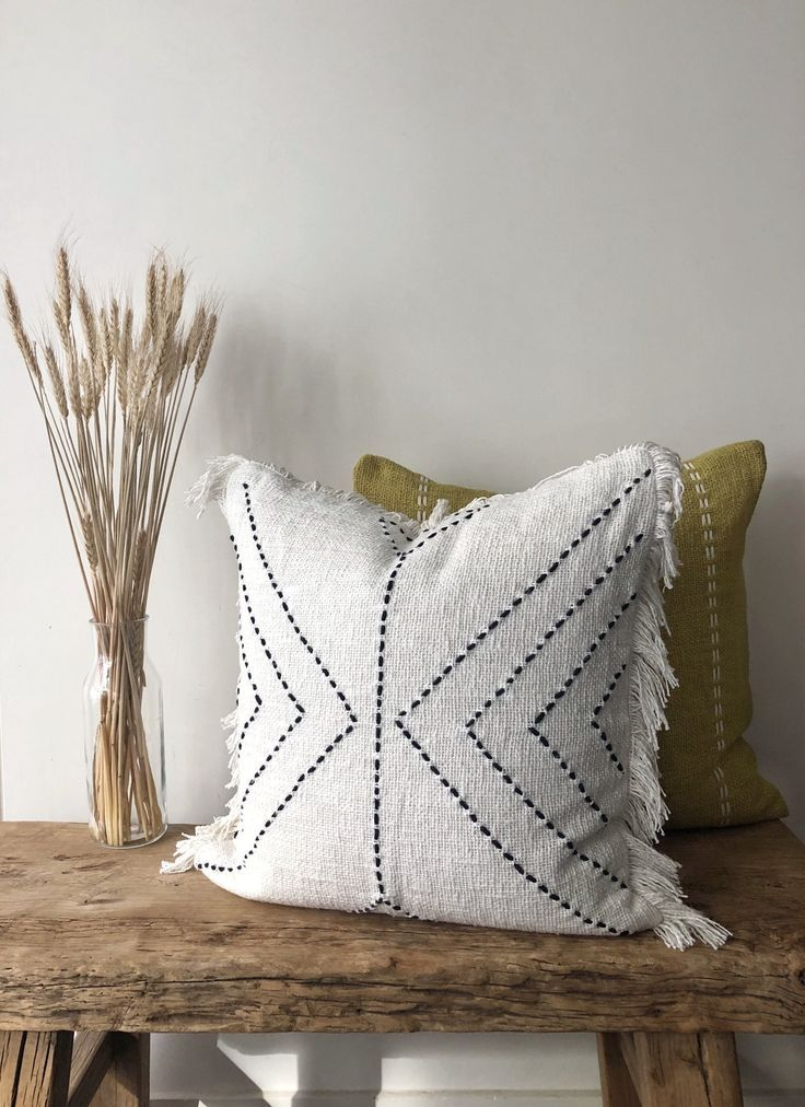 Aztec House Neutral Cotton Fringe Cushion Boho Pillow Australia Bohopillow Downstairs Aus Boho Pillows Boho Throw Pillows Bohemian Throw Pillows