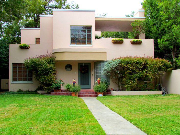 Art moderne house 1940s art moderne style often mistaken for Modern art deco homes