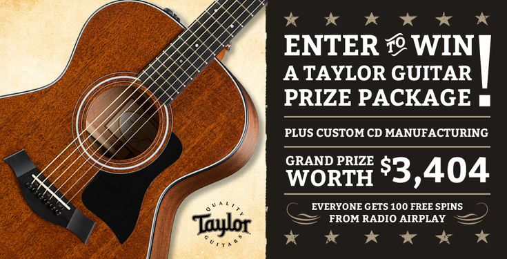 Enter to win a Taylor Guitar Prize Package from Oasis Cd! ARV: $3,404