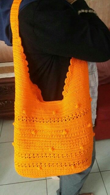 Orange hobo bag