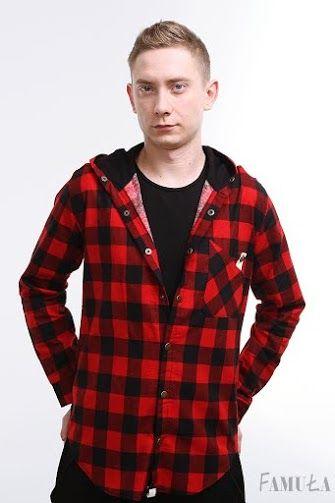 Koszula z kapturem czerwona