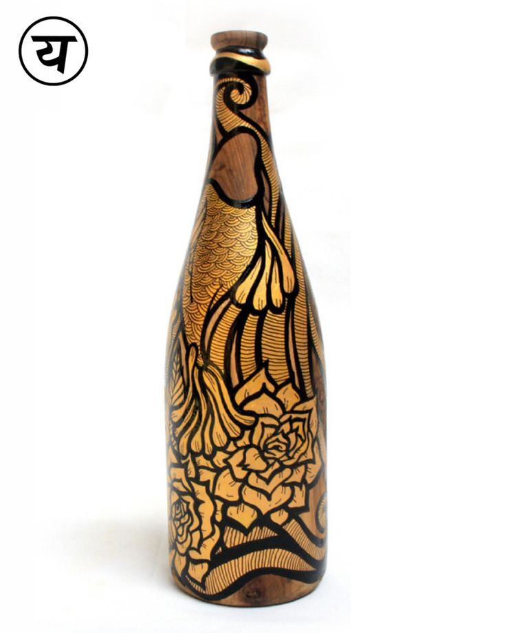 """Fish (Hand-painted Single Malt Bottle Lamp) 
