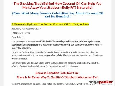 Product Name: Coconut Oil For Weight Loss | Natural and Easy Weight Loss   Click here to get Coconut Oil For Weight Loss | Natural and Easy Weight Loss at discounted price while it's still available…    All orders are protected by SSL encryption – the highest industry standard for...