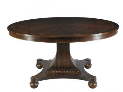 MH10013 Brighton Pedestal Table For Mr. And Mrs. Howard For Sherrill  Furniture